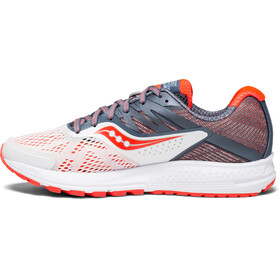 saucony Ride 10 Running Shoes Women white/fog/vizipro red